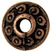 Blue Moon Value Pack Metal Spacer Beads-Copper Rondelles 22/Pkg