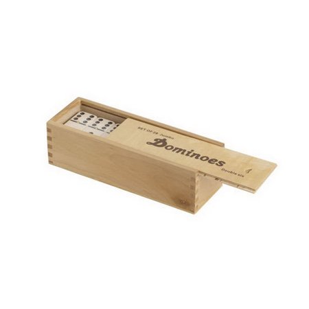 Jumbo Double Six Dominoes - CHH 2411SW Double 6 Jumbo Domino in Wood Case