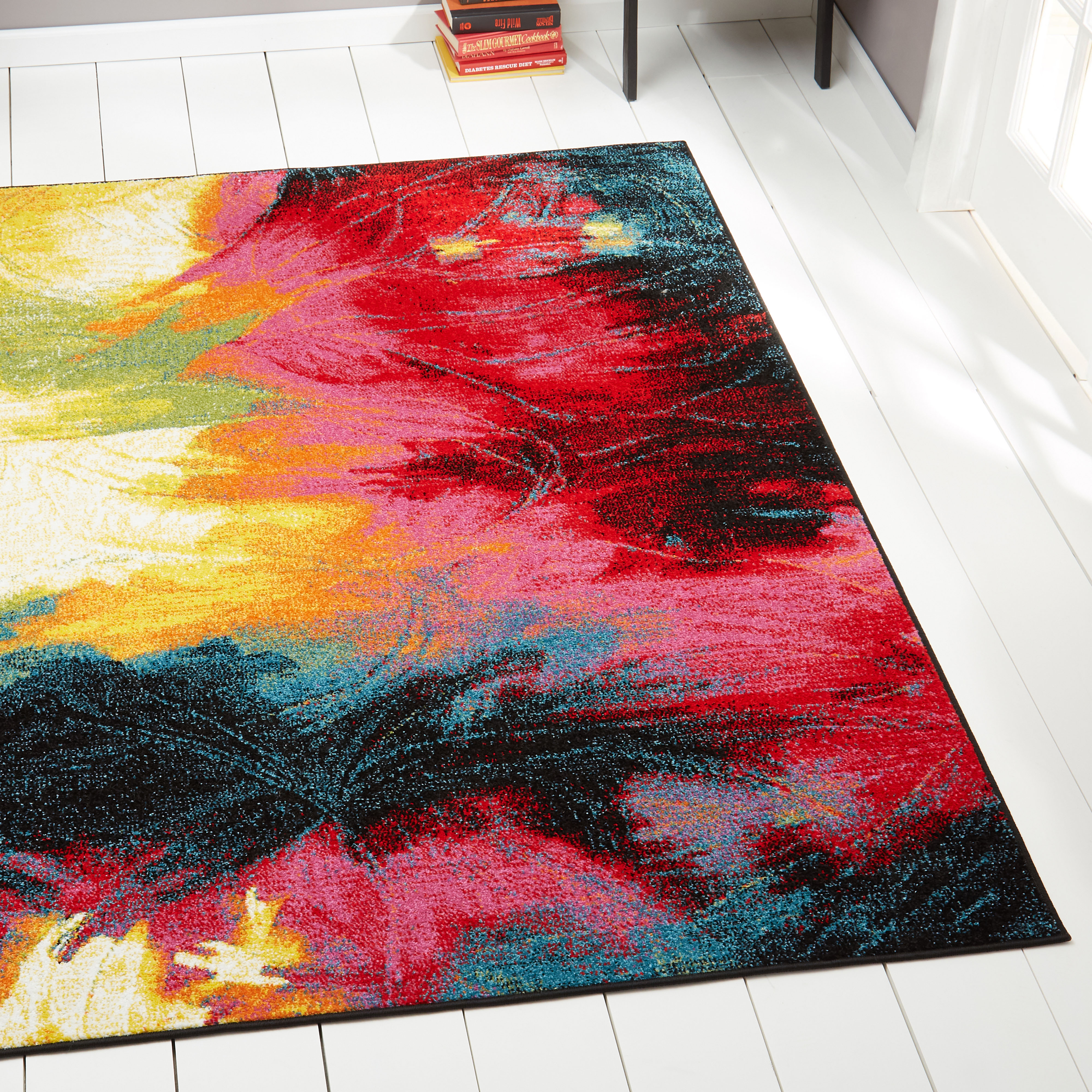 Home Dynamix Splash Collection Bright Abstract Area Rug