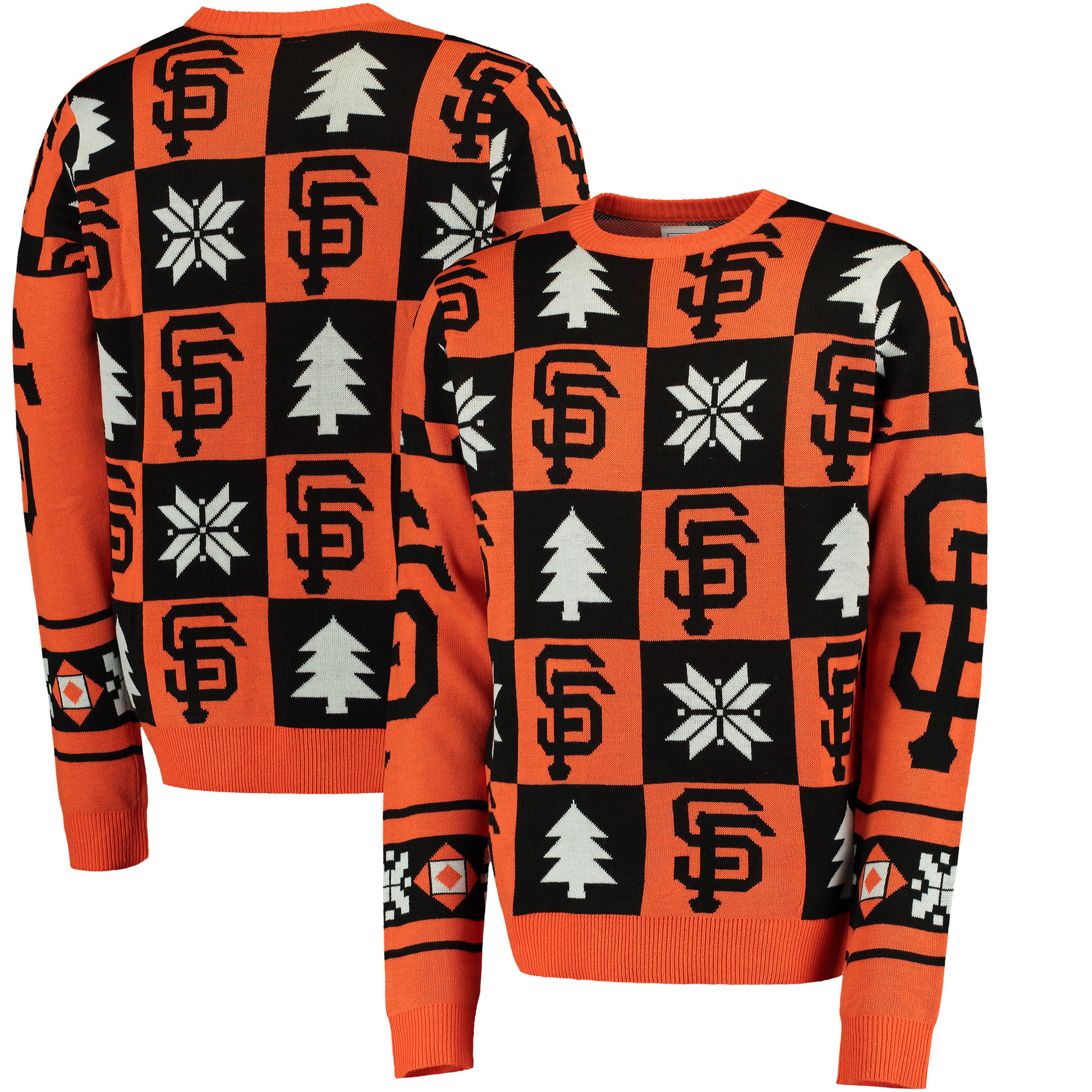 San Francisco Giants Patches Ugly Pullover Sweater - Orange