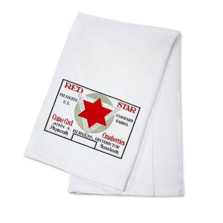 Plymouth, Massachusetts - Red Star Brand Cape Cod Cranberry Label (100% Cotton Kitchen - Plymouth Stars
