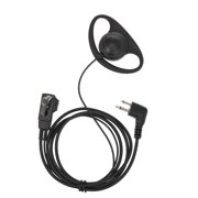 Universal Finger PTT Earpiece with Microphone Headset for Motorola Two Way Radio Walkie Talkie Two Pin M Plug
