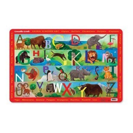 Crocodile Creek Animal Kingdom ABC Placemat (Crocodile Creek Plates)