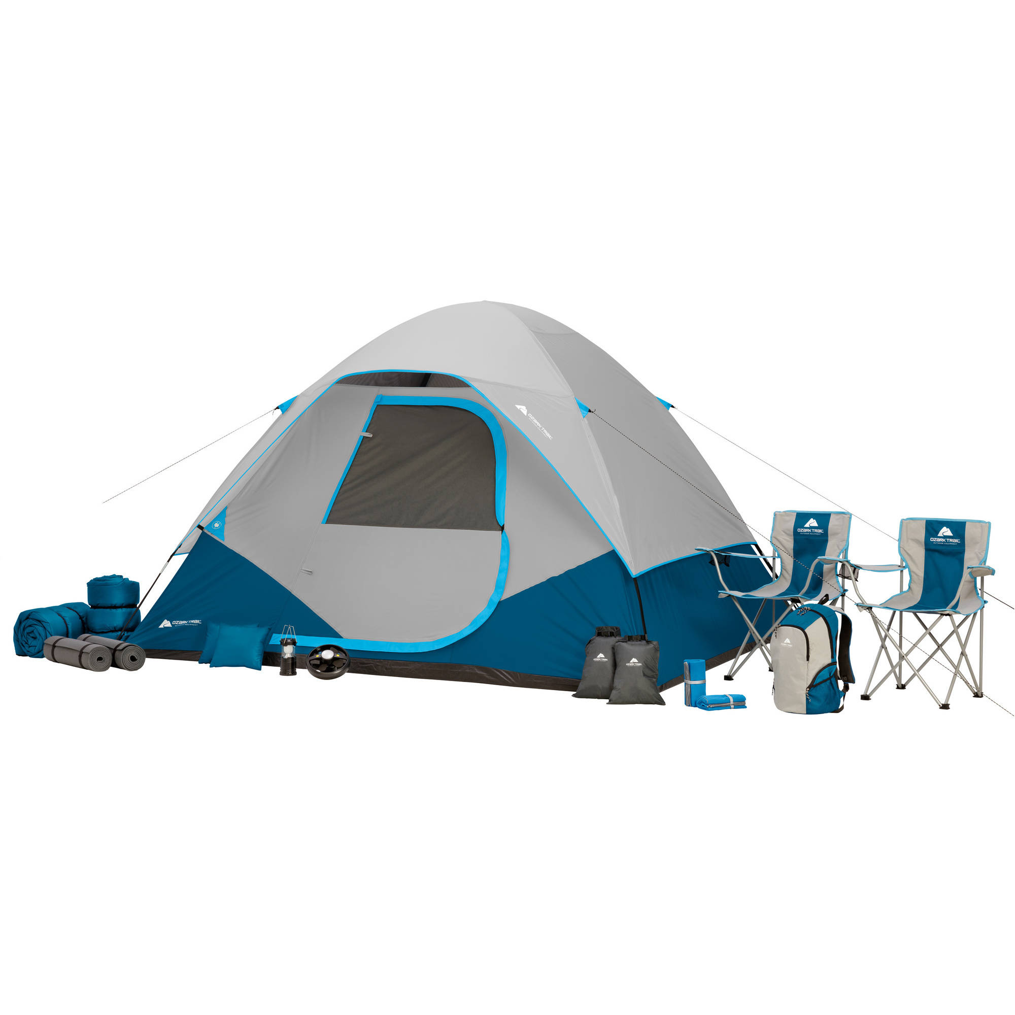 Click here to buy Ozark Trail 28-Piece Premium Camping Combo Set.