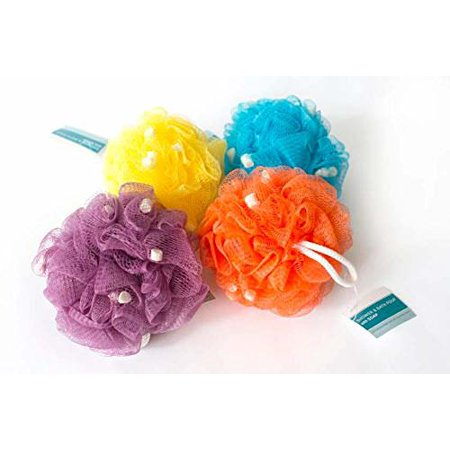 (Pack of 4) Bradford Bath Pouf with Specialty Soap -