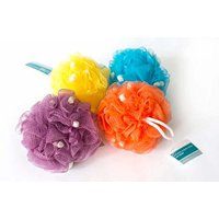 (Pack of 4) Bradford Bath Pouf with Specialty Soap Beads