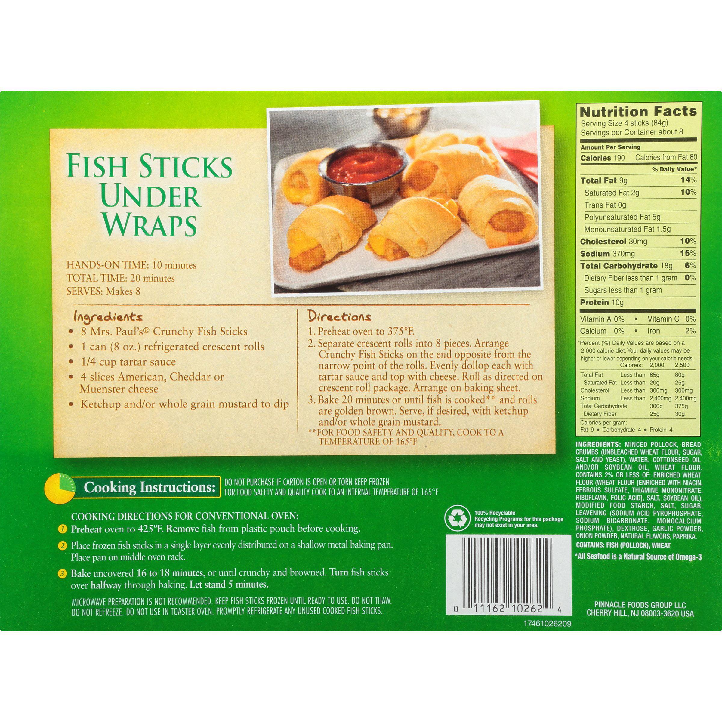 Mrs Paul S Xtra Large Crunchy Fish Sticks 30 Ct 23 Oz