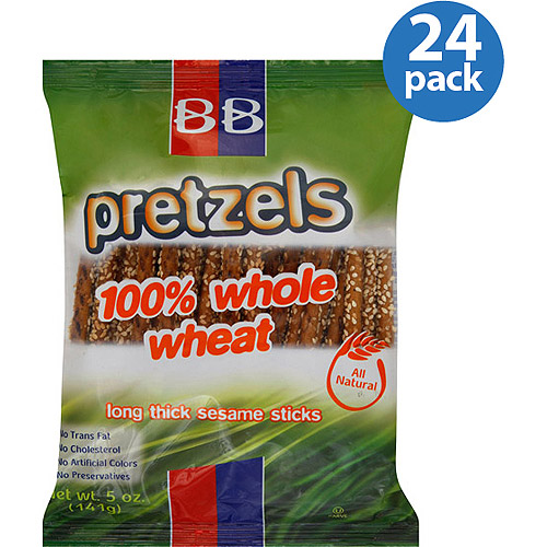 Beigel Beigel 100% Whole Wheat Long Thick Sesame Stick Pretzels, 5 oz, (Pack of 24) by Generic