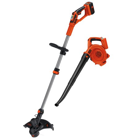 BLACK+DECKER LCC140 40V MAX* Lithium-Ion Cordless String Trimmer & Sweeper Combo Kit