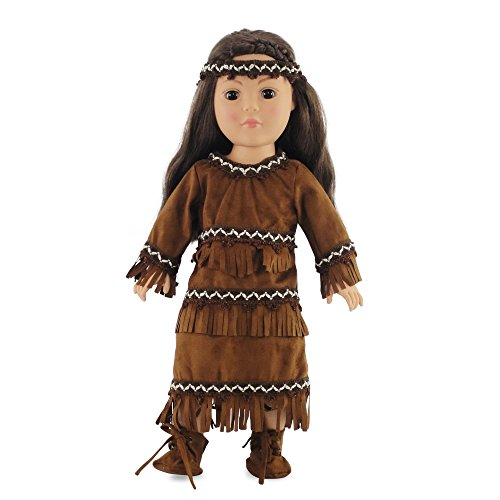 18 Inch Doll Clothes clothing Fits American Girl � Native American Outfit Fits Kaya 18�... by Emily Rose Doll Clothes