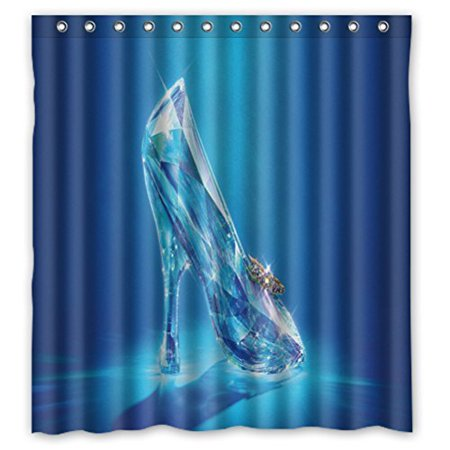 DEYOU Cinderella Shower Curtain Polyester Fabric Bathroom Size 66x72 Inches