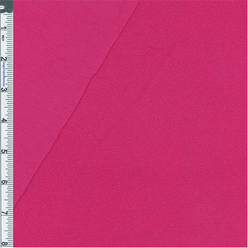 Hot Pink Baby French Terry Jersey Knit, Fabric By the Yard