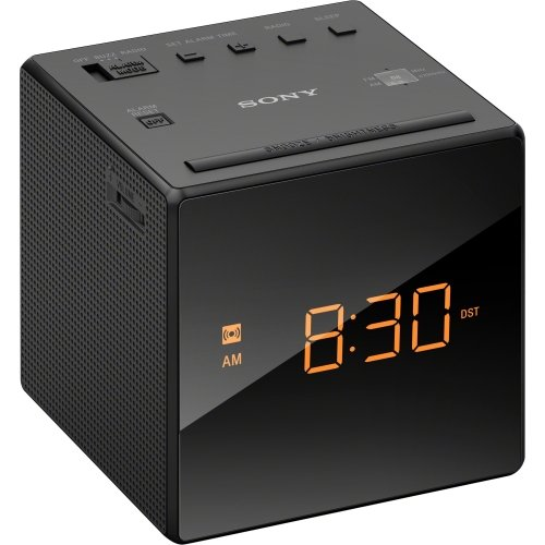 Sony Icf-c1black Desktop Clock Radio - 0.1 W Rms - Mono - 1 X Alarm - Fm, Am - Battery Rechargeable - Manual Snooze (icfc1black)