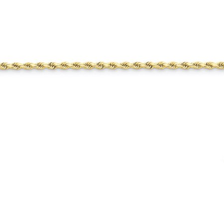 Primal Gold 14 Karat Yellow Gold 2.75mm Diamond-cut Rope Chain with Lobster Clasp