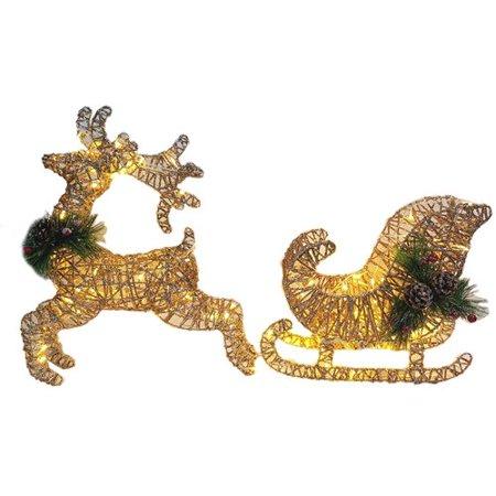 Swarovski Sleigh (The Holiday Aisle Christmas Pre-Lit LED Lighted Deer and Sleigh)