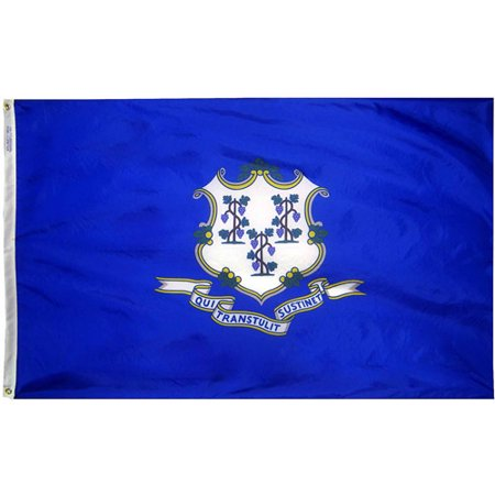 Connecticut State Flag, 3' x 5', Nylon SolarGuard Nyl-Glo, Model# 140760