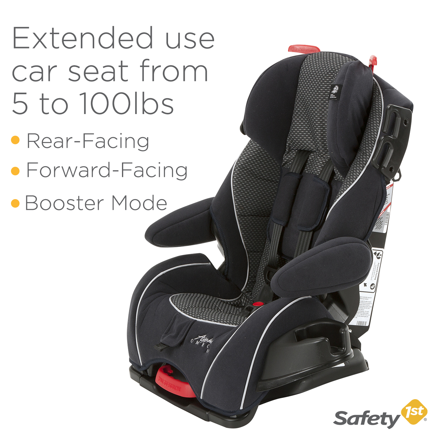 Safety 1st Alpha Omega EliteTM Convertible Car Seat Quartz