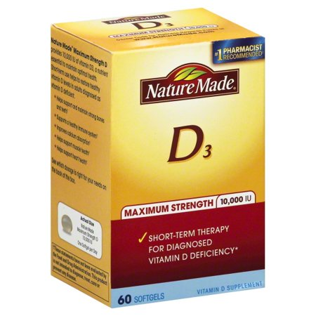 Nature Made Nutritional Products Nature Made Vitamin D3, 60 ea