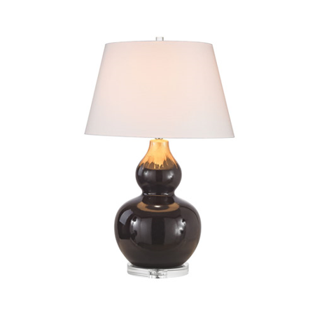 World of Lights WLGT145666 Table Lamps Chocolate Glaze & Molten Gold Ceramic Metal Treacle