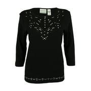 Women's Studded 3/4 Sleeve Top