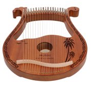 CHICIRIS Lyre Harp 19‑String Mahogany Small Portable Musical Instrument for Beginners Wood Color,Lyre Harp,19 String Lyre