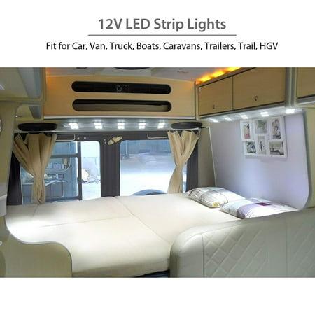 12V Cars Interior Dome Lights Kit 10 LED Modules for RV Trailer Lorries - image 3 of 7