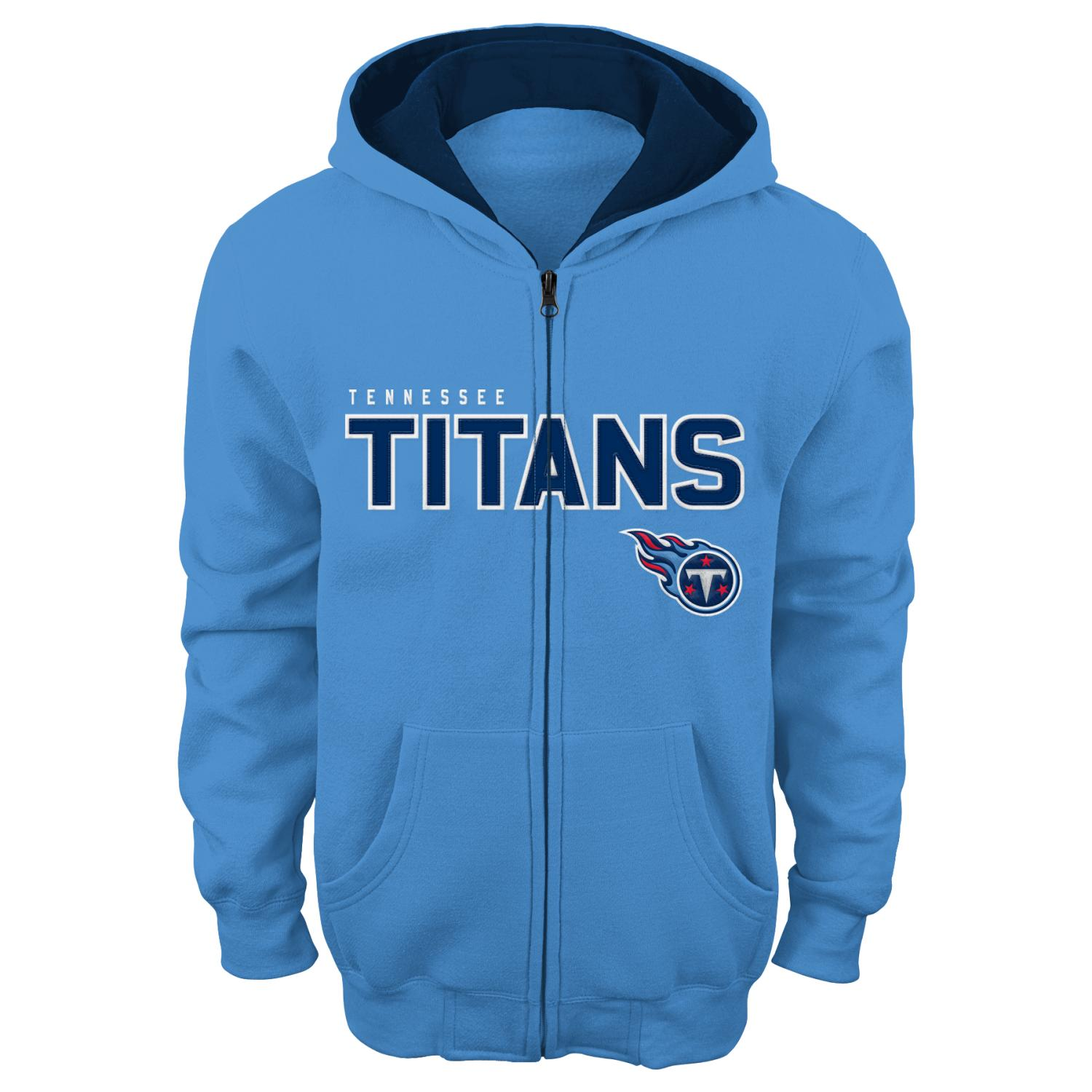 "Tennessee Titans Youth NFL ""Stated"" Full Zip Hooded Sweatshirt"
