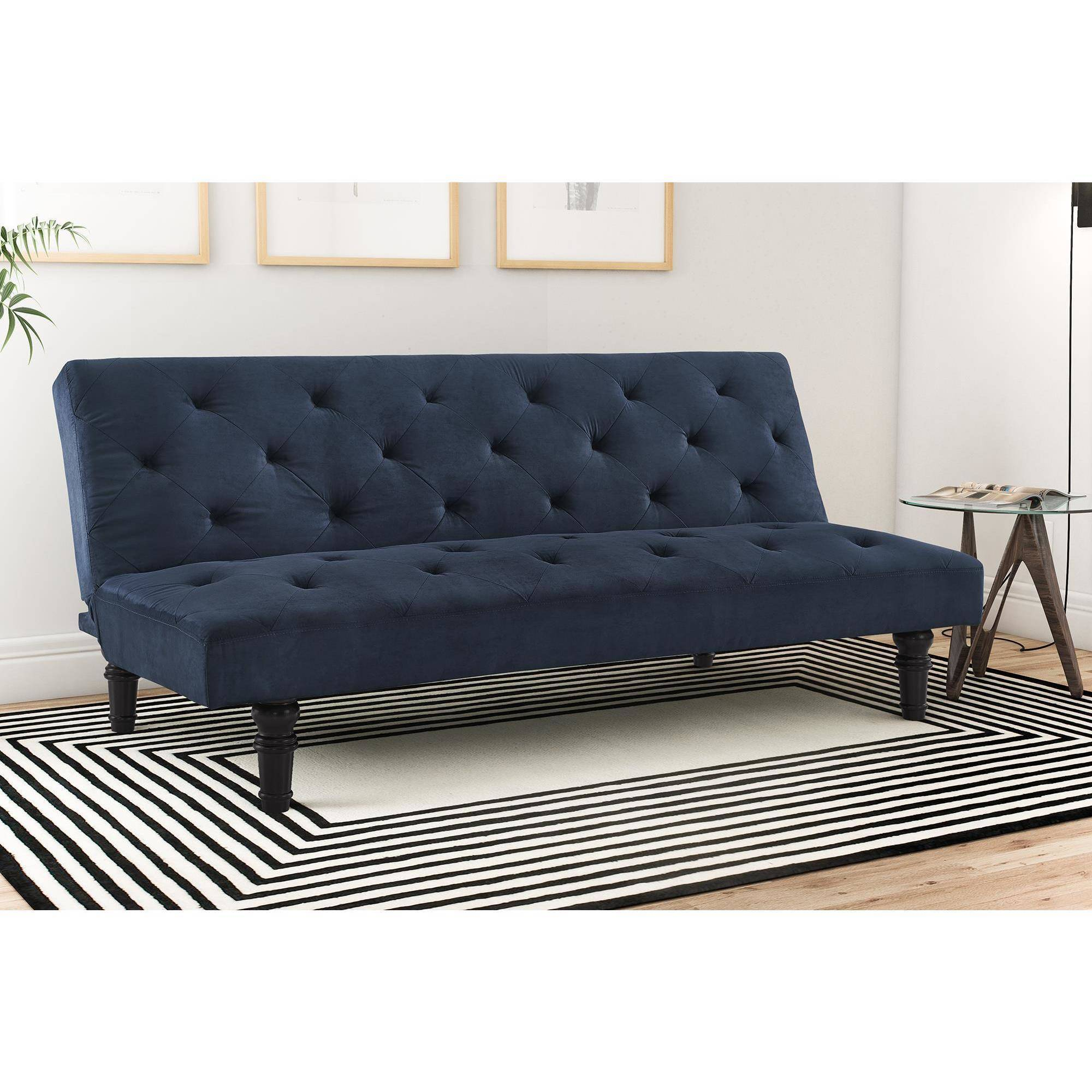 Dorel Home Products Orfino Velour Futon Multiple Colors Walmart