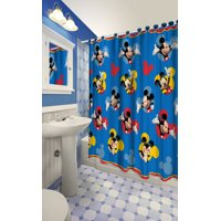 Disney Junior Mickey Mouse Clubhouse Mickey Mouse 13 Piece Shower Curtain Set - 1 Curtain, 12 Hooks