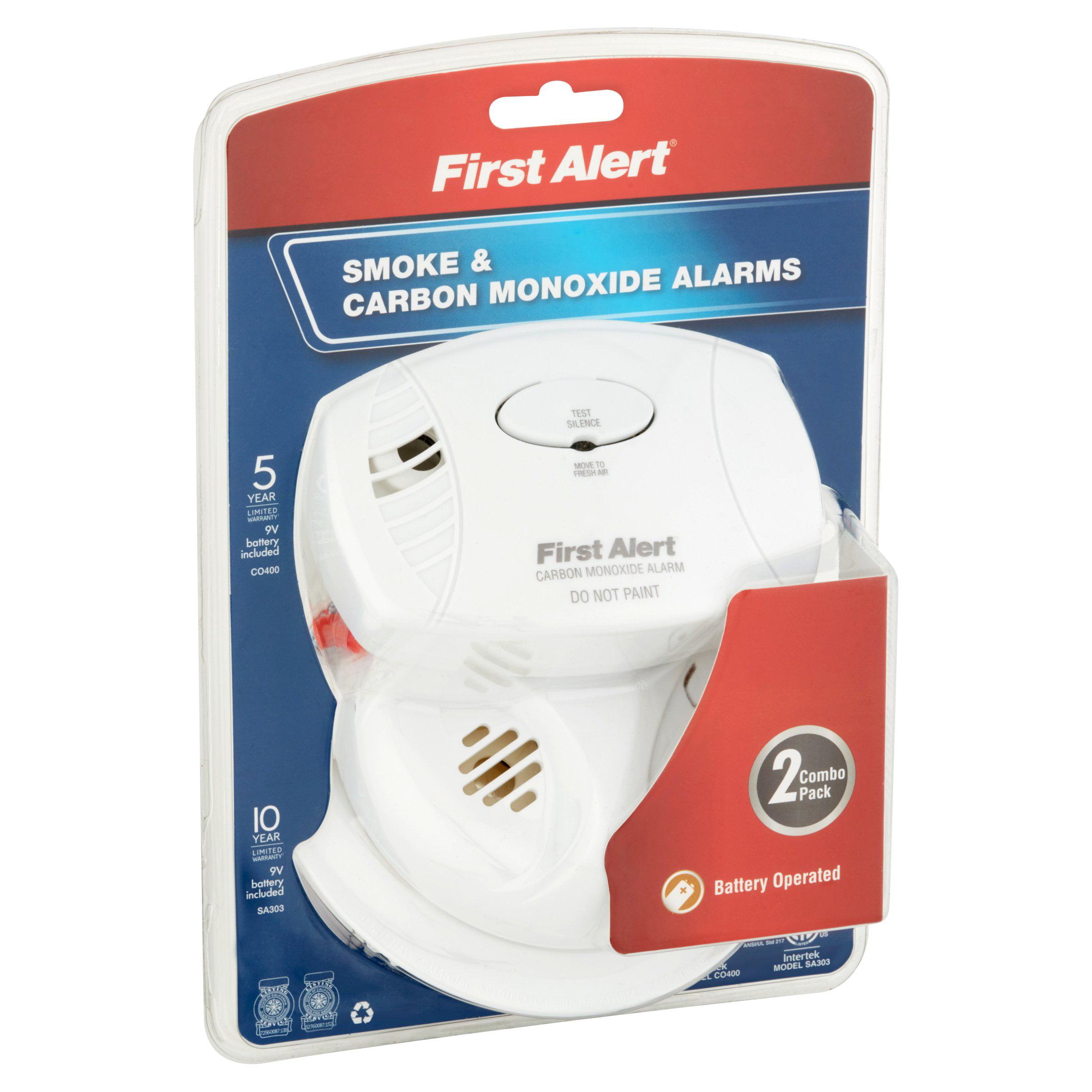 First Alert SCO403 Smoke and Carbon Monoxide Detector bo Pack Walmart