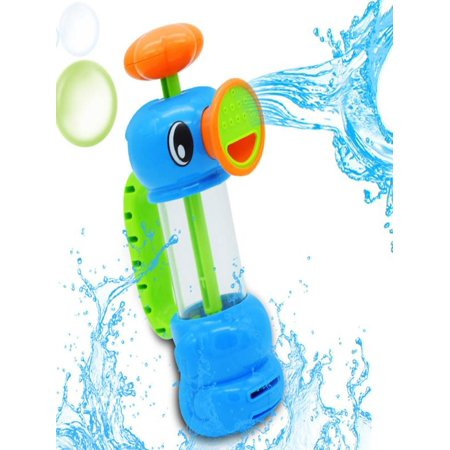 Iuhan Child Baby Kids Bath Shower Swimming Pool Water Toys Duck Design Water Pump Toy