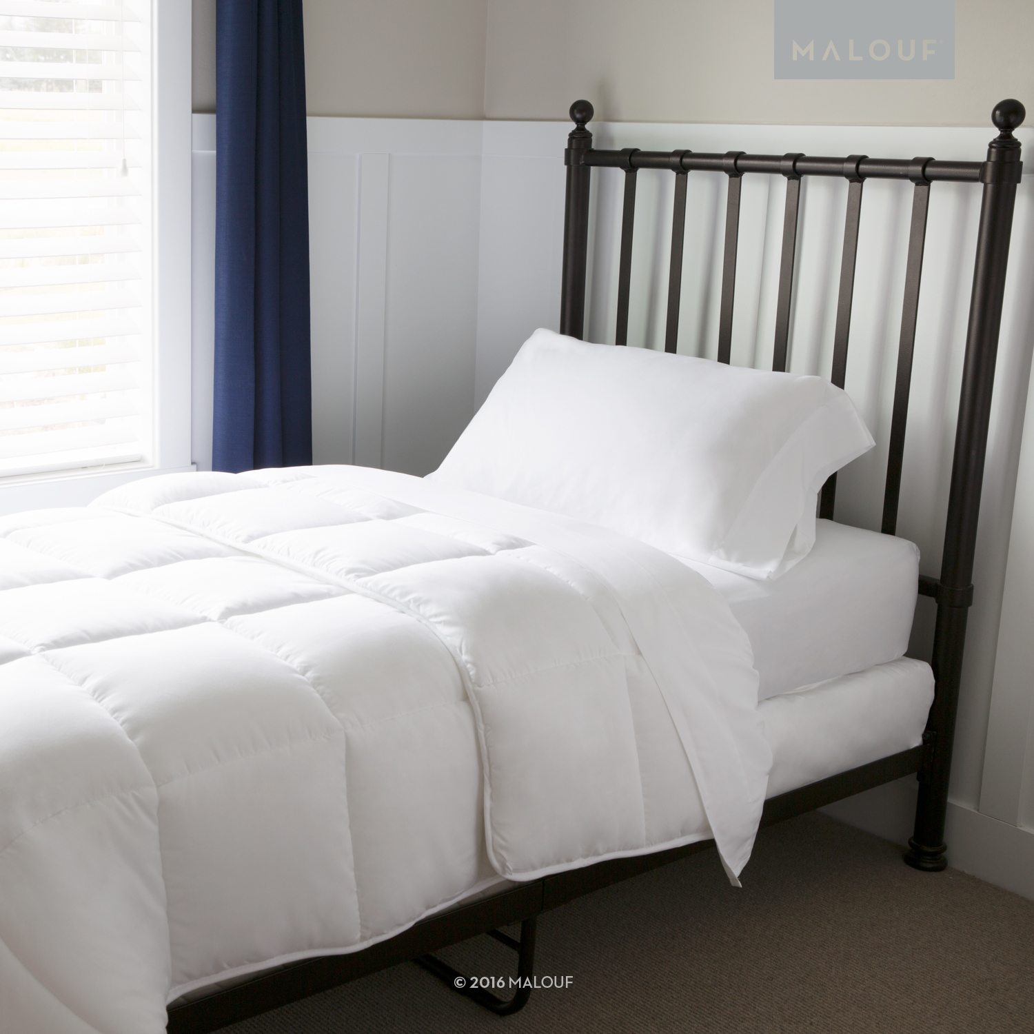 Woven Bed In a Bag  Bedding Set - Split King - White