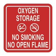 INTERSIGN 62199-15 RED No Smoking Sign, 5-1/2 x 5-1/2In, WHT/R