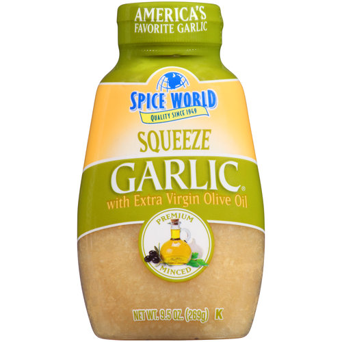 Spice World Squeeze Garlic with Extra Virgin Olive Oil Garlic, 9.5 oz