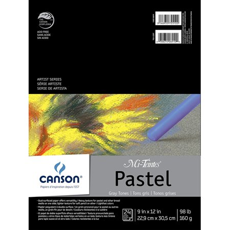 - Mi-Teintes Pastel Pad 12X16 Assorted Colors, A color assortment of pastel and pencil drawing paper By Canson