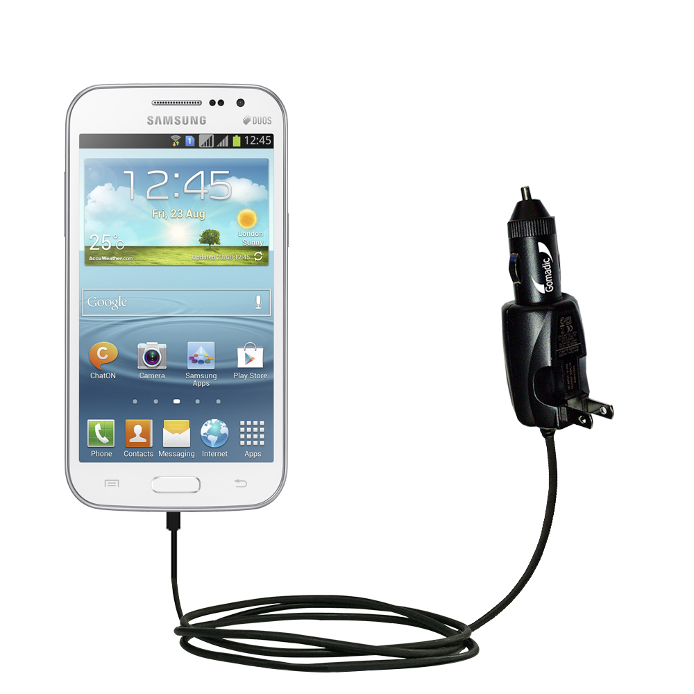 Intelligent Dual Purpose DC Vehicle and AC Home Wall Charger suitable for the Samsung Galaxy WinTipExchange Technology