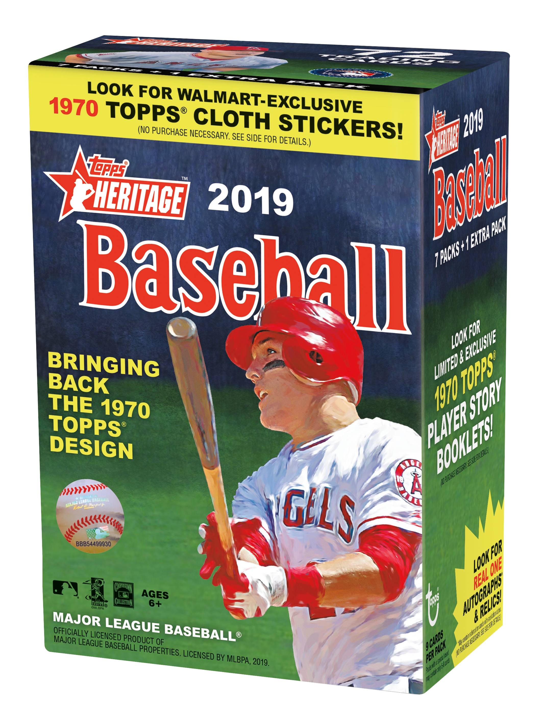 Topps Heritage 2019 Mlb Baseball Value Box Limited Walmart Exclusive 1970s Design Autographs Relics Rookies New Age Performers