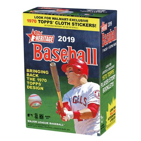 Topps Heritage 2019 MLB Baseball Value Box- LIMITED WALMART EXCLUSIVE- 1970's Design | Autographs, Relics, Rookies & New Age