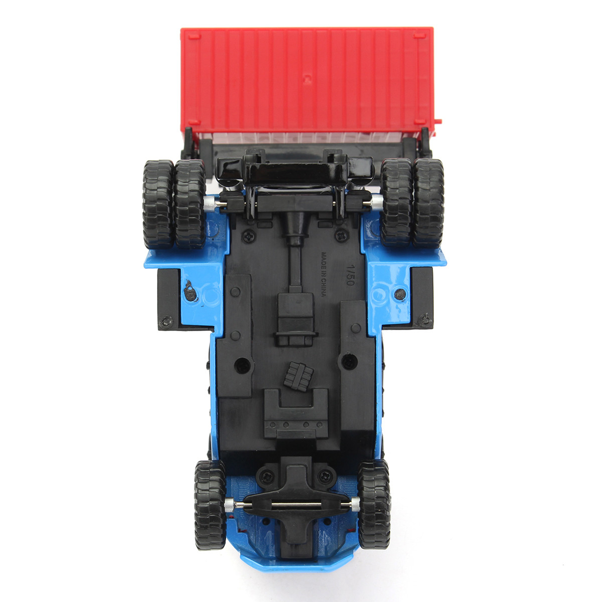 1:50 Empty Container Stacker Forklift Truck Car Construction Toy Gift Blue