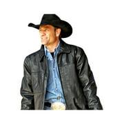 StS Ranchwear Western Jacket Boys Rifleman Leather M Black STS5465