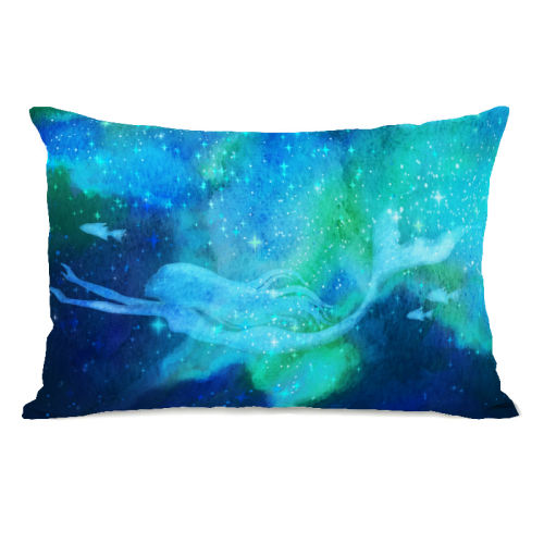 Mermaid in the Sky - Blue 14x20 Pillow by OBC