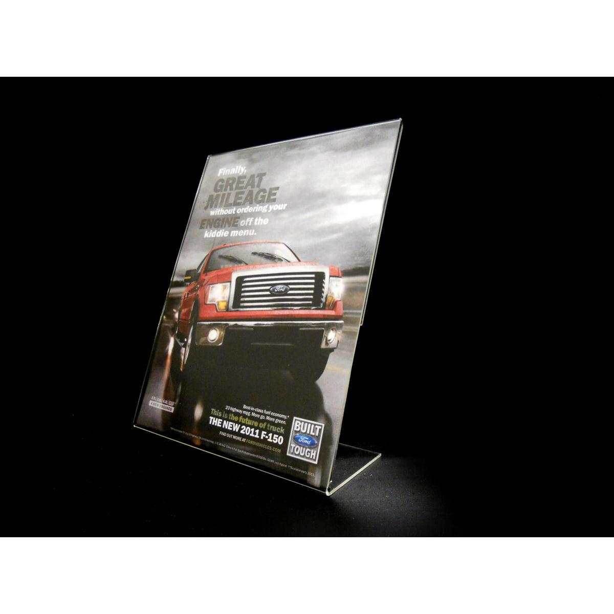 "Acrylic Slant Back Display Sign Holder 8.5"" x 11"" by Signworld America"