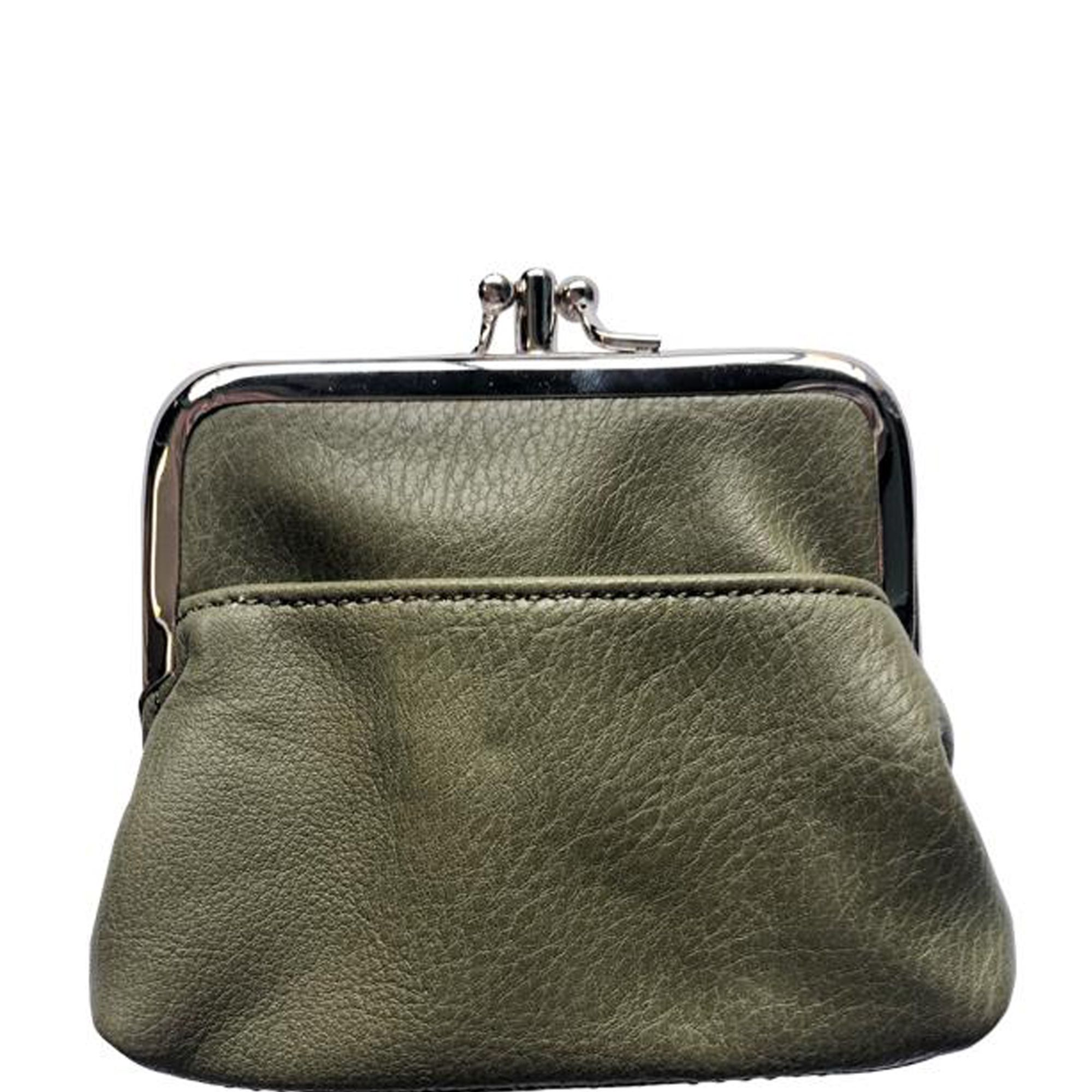 leather pouch green leather purset Army Military green Soft leather Textured wallet case leather women wallet Small leather bag