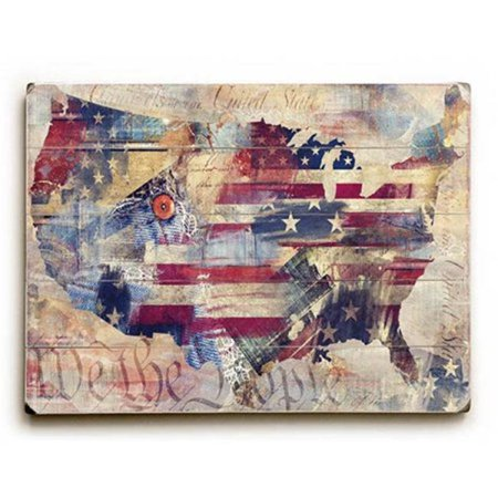 One Bella Casa 0004-9441-25 9 x 12 in. We the People Solid Wood Wall Decor by ArtLicensing - image 1 of 1