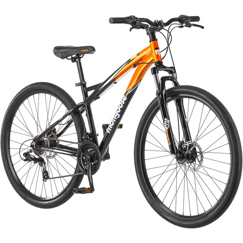 "Mongoose Stat 4.2 29"" Men's Bike, Black and Orange"