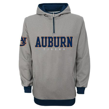 Auburn Tigers Ncaa  Fashion  Mens 1 4 Zip Hooded Sweatshirt