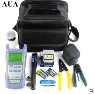 FTTH Optic Tool Kit w//FC-6S Fiber Cleaver//Power Meter//Stripper//Fault Locator Neu