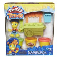 Play-Doh Town Market Stand with 3 Cans of Dough