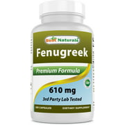 Best Naturals Fenugreek 610 mg 180 Capsules