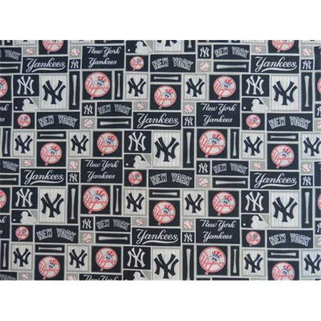 DecorDogz Galore S02L New York Large Dog Collar Bandana - Y Baseball